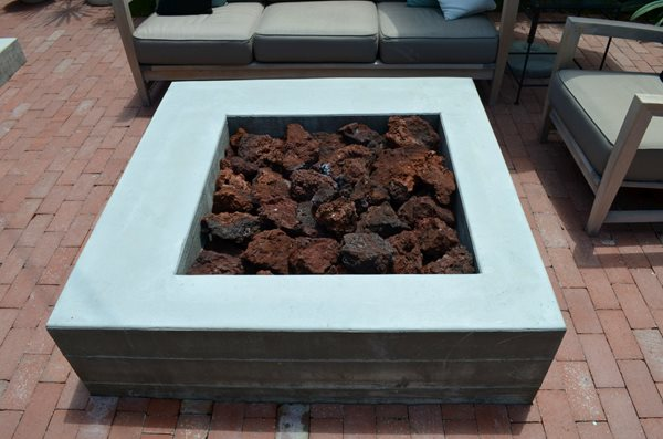 Board Formed, Square, Fire Pit Outdoor Fire Pits ConcreteNetwork.com