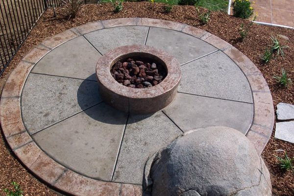 Circle, Wheel Outdoor Fire Pits New Images Concrete Construction Lakeside, CA