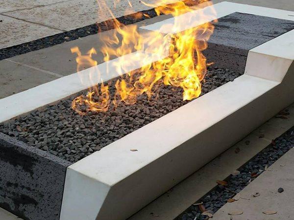 Concrete Fire Pit Outdoor Fire Pits Sarche' Concrete Design Dallas, TX