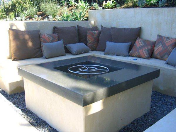 Outdoor Fire Pits Hart Concrete Design Costa Mesa, CA
