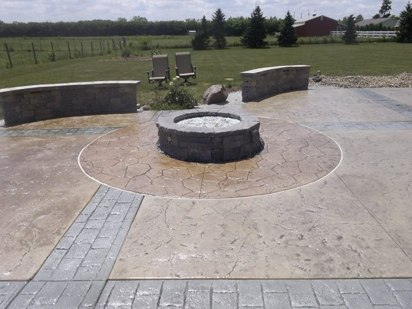 Multiple Stamp Patterns Outdoor Fire Pits Concrete Creations Plymouth, IN