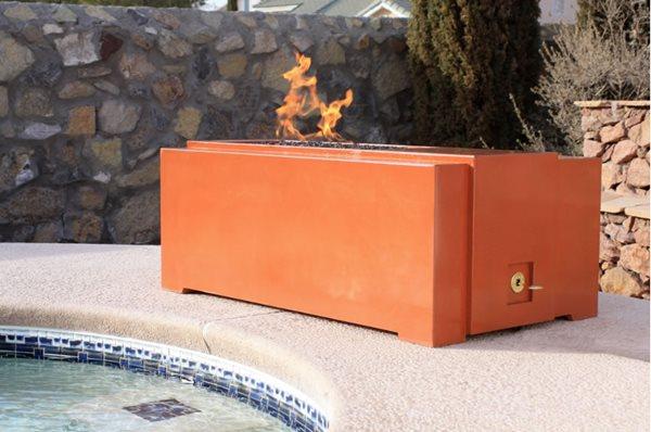 Orange Concrete Fire Pit Outdoor Fire Pits Homcrete Inc El Paso, TX