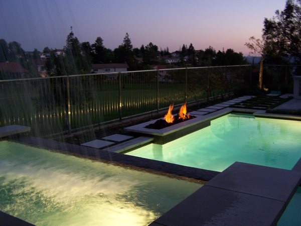 Pool, Glow Outdoor Fire Pits The Green Scene Chatsworth, CA
