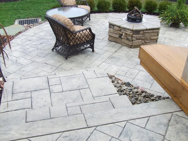 Raised, Stone Outdoor Fire Pits Concrete by Design Montgomery, NY