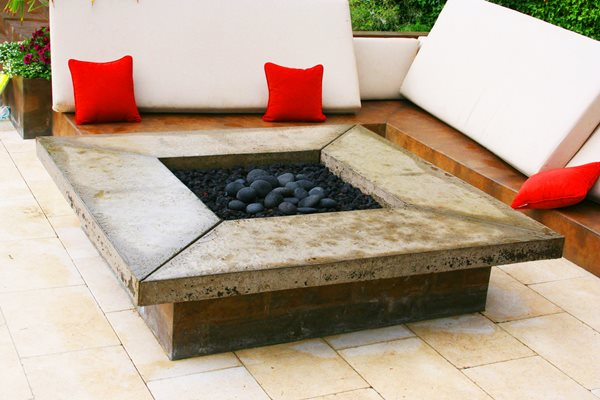 Square Fire Pit, Fire Table Outdoor Fire Pits Crafthammer Design Seattle, WA