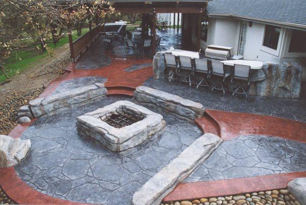 Stone, Benches Outdoor Fire Pits Pristine Concrete LLC Paso Robles, CA
