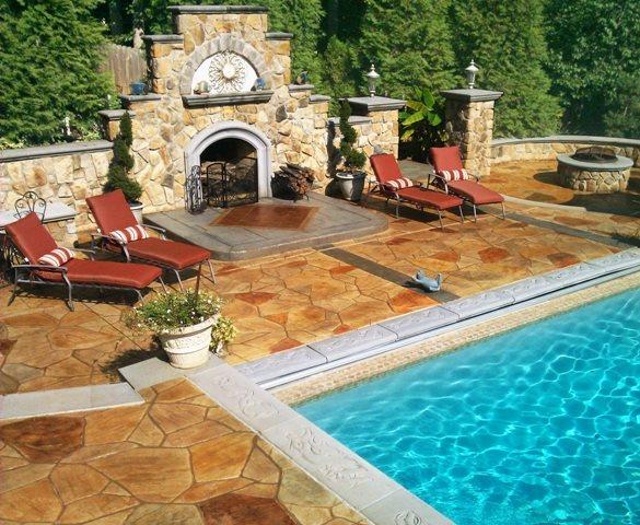 Backyard Oasis Outdoor Fireplaces Greystone Masonry Inc Stafford, VA