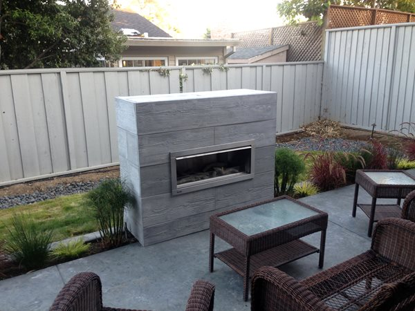 Board Formed Outdoor Fireplace Outdoor Fireplaces Diamond D Company Capitola, CA