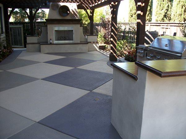 Colored Diamonds, Bbq Counters Outdoor Fireplaces ALLSTAR Development LLC Lewisville, TX