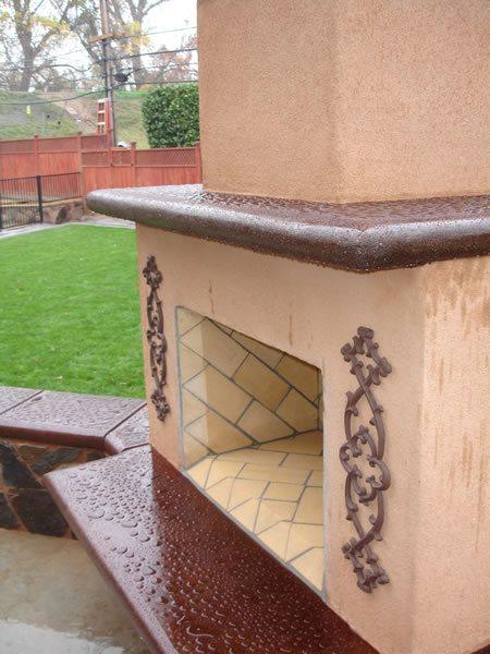 Fireplace Outdoor Fireplaces Steele Custom Concrete   Sacramento, CA