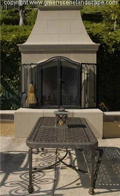 Hearth, Glass Doors Outdoor Fireplaces The Green Scene Chatsworth, CA