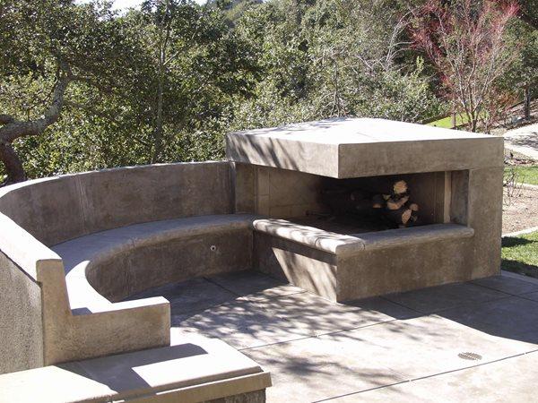Modern, Fireplace Outdoor Fireplaces Tom Ralston Concrete Santa Cruz, CA