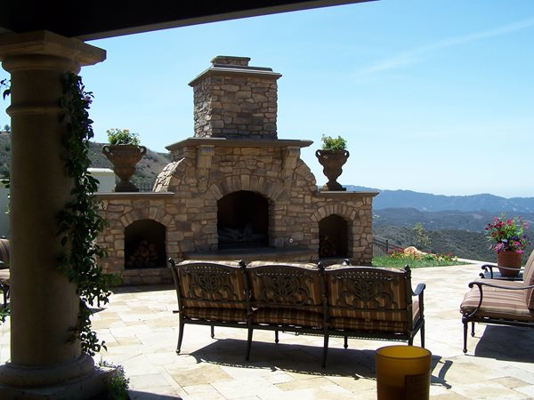 Rock, Wood Storage Outdoor Fireplaces The Green Scene Chatsworth, CA
