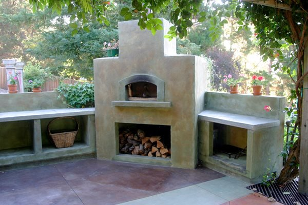 Sand, Pizza Stove Outdoor Fireplaces Tom Ralston Concrete Santa Cruz, CA