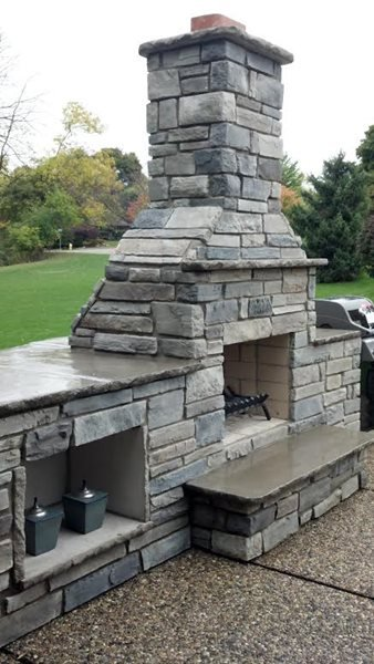 Outdoor Fireplaces Skinner Masonry & Concrete Blanchard, MI