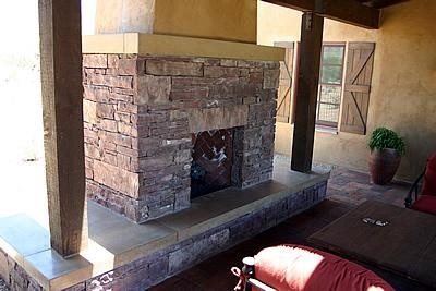 Yellow, Hearth Outdoor Fireplaces CRAWFORD + SZCZECH CONCRETE INTERIORS Phoenix, AZ