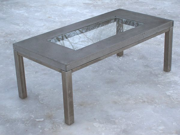 Concrete, Glass Outdoor Furniture Natural Concrete Artistry Hamilton, MI