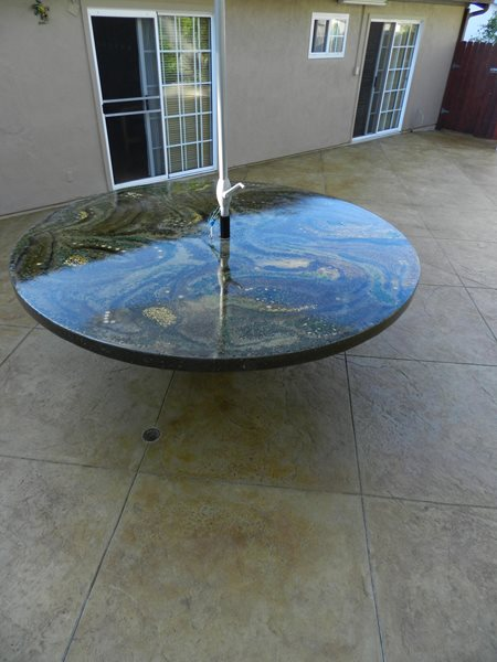 Concrete Table Top, Round Patio Table Outdoor Furniture Visions Below Laguna Niguel, CA