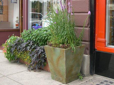 Green, Planter Outdoor Furniture Stone Soup Concrete Easthampton, MA