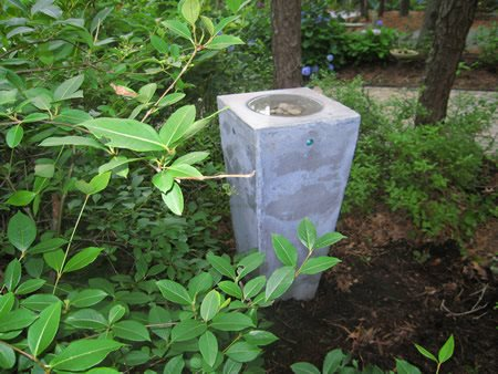 Grey, Trash Can Outdoor Furniture Silvermine Workshop Wilton, CT