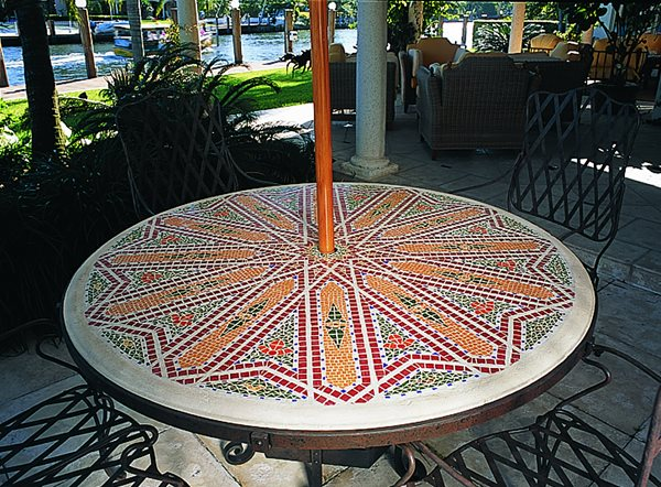 Mosaic, Patio Table Outdoor Furniture Art and Maison Inc. Miami, FL