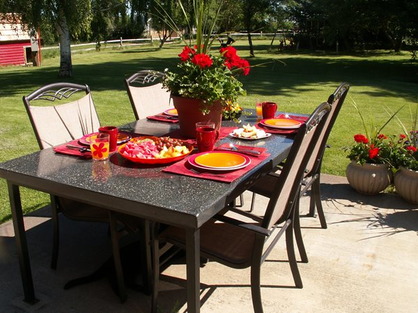 Outdoor Dining Table Outdoor Furniture Rafter C Precast Concrete Medicine Hat, AB