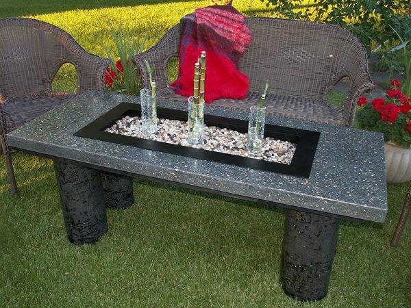 Table, Bench Outdoor Furniture Rafter C Precast Concrete Medicine Hat, AB