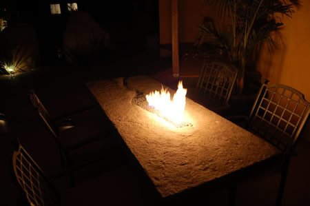 Table, Fire Outdoor Furniture Concrete Jungle Spicewood, TX