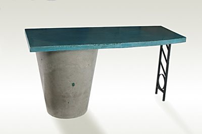 Teal, Table Outdoor Furniture Concrete Counter Culture Safety Harbor, FL