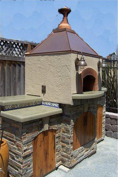 Backyard Pizza Oven, Concrete Counters Outdoor Kitchens Concrete Interiors Martinez, CA
