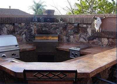Bar, Brown Outdoor Kitchens Specialty Design Coatings Laguna Niguel, CA