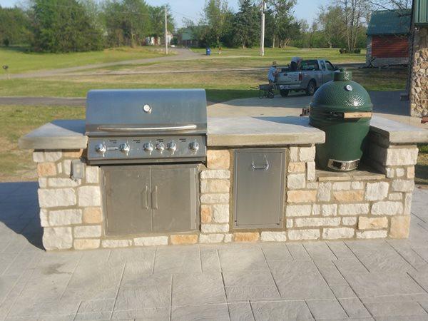 Bbq, Smoker, Concrete Outdoor Kitchens Complete Concrete Of Oklahoma Jenks, OK