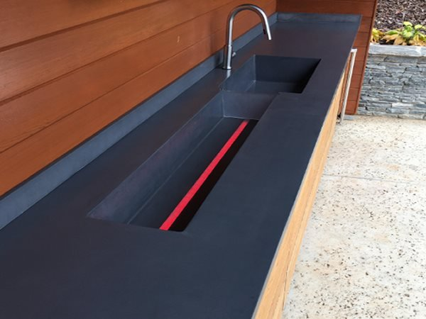 Black Counter, Drink Trough Outdoor Kitchens Reaching Quiet Design Charlotte, NC