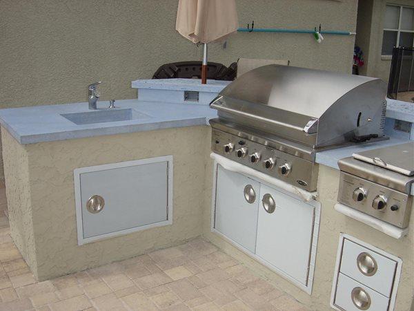 Bone, Bbq Outdoor Kitchens Concrete -N- Counters Lutz, FL