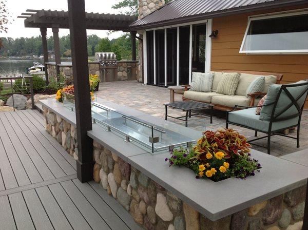 Built In Ice Chest, Concrete Cap Outdoor Kitchens Hard Topix Jenison, MI