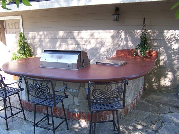 Concrete Barbecue, Outdoor Concrete Countertops Outdoor Kitchens Concrete Interiors Martinez, CA