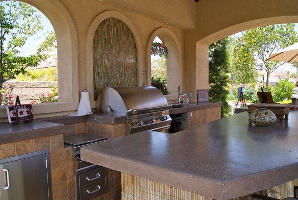 Concrete Countertops, Grill, Tile Outdoor Kitchens ConcreteNetwork.com