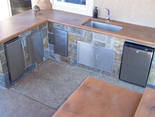 Countertop, Sink Outdoor Kitchens Century 22 Creations Menifee, CA