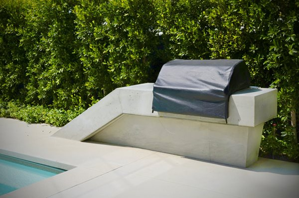 Grill, Cast Concrete, White Outdoor Kitchens ConcreteNetwork.com