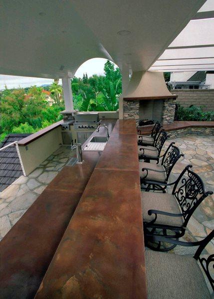 Large, Bar Outdoor Kitchens California Concrete Designs Anaheim, CA