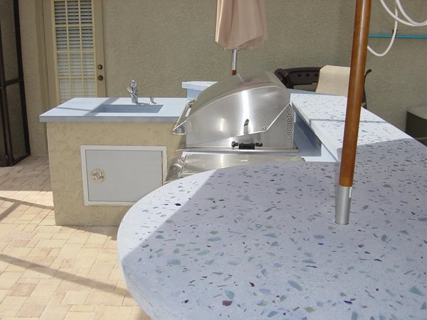Multi Colored, Bar Top Outdoor Kitchens Concrete -N- Counters Lutz, FL