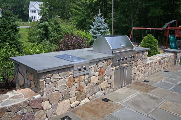 Natural, Rock Outdoor Kitchens New England Hardscapes Inc Acton, MA
