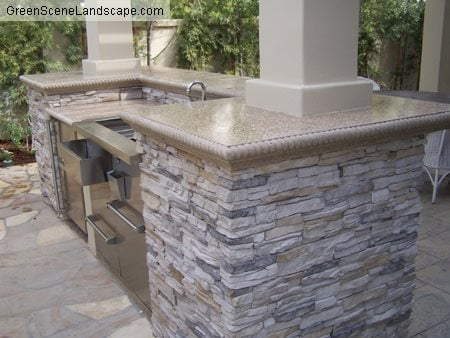 Outdoor Concrete Sink Outdoor Kitchens The Green Scene Chatsworth, CA