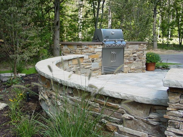 Seat Wall, Concrete Retaining Wall Outdoor Kitchens Nobel Concrete Jenison, MI