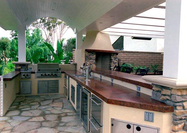 Sleek, Modern Outdoor Kitchens California Concrete Designs Anaheim, CA