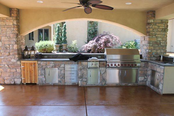 Stained Concrete Outdoor Kitchens ALLSTAR Development LLC Lewisville, TX
