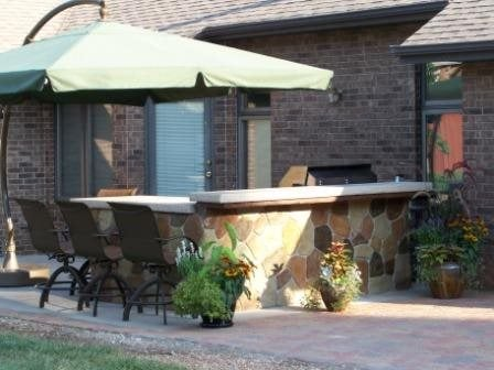 Stone Looking Bbq Outdoor Kitchens Accent Curbz Decorative Concrete Springfield, MO