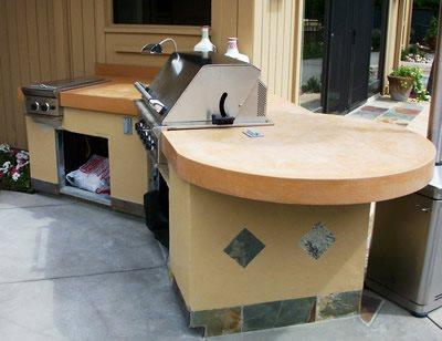 Terra Cotta, Tile Outdoor Kitchens Concast Studios Oceano, CA