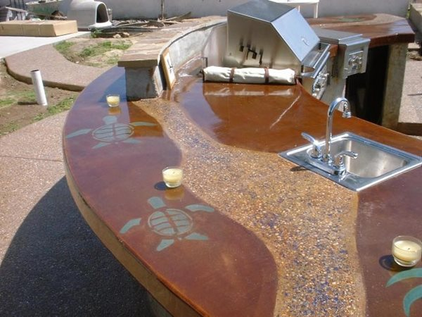 Turtle, Bbq, Outdoor Outdoor Kitchens Concepts In Concrete Const. Inc. San Diego, CA