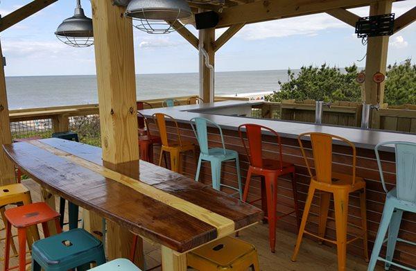 Two-Tone Bar Countertop Outdoor Kitchens Integrity Concrete LLC Marydel, DE